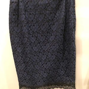Lace pencil skirt NWOT